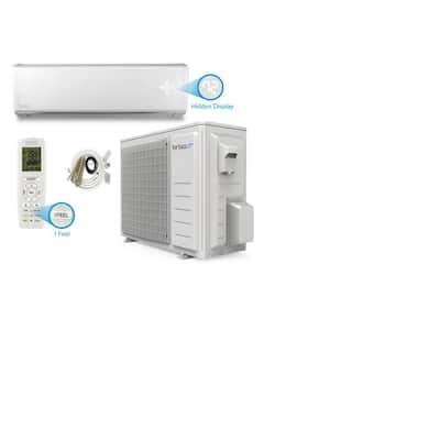 Brisa 9,000 BTU .75 Tons Wi-Fi Inverter Driven Ductless Mini Split Air Conditioner with Heat Pump - 115V