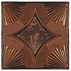 Burbank 2 ft. x 2 ft. Lay-in or Glue-up Ceiling Tile in Antique Copper (48 sq. ft. / case)