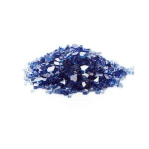 1/4 in. Cobalt Blue Tempered Reflective Fire Glass (10 lbs. Bag)