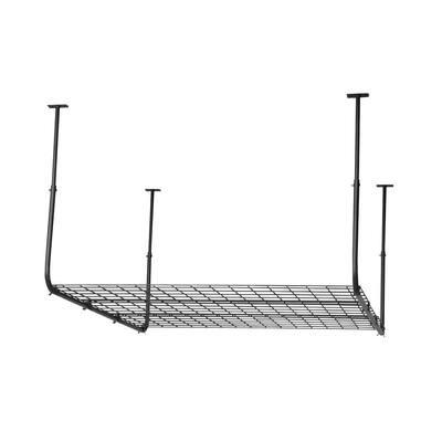 Black Adjustable Metal Overhead Garage Storage Rack (45 in W x 45 in D)