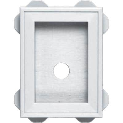 White Mounting Scalloped Siding Block