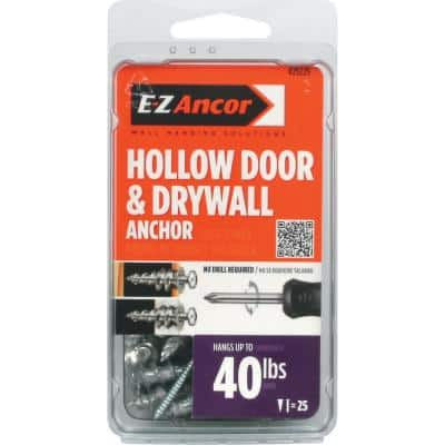 1 in. Hollow Door and Drywall Anchors (25-Pack)