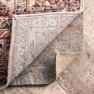 Geometric Non-Slip Grip 2 ft. x 4 ft. Rectangle Rug Pad