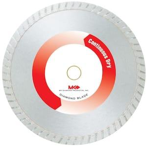 7 in. Continuous Rim Dry-Cutting General-Purpose Diamond Circular Saw Blade