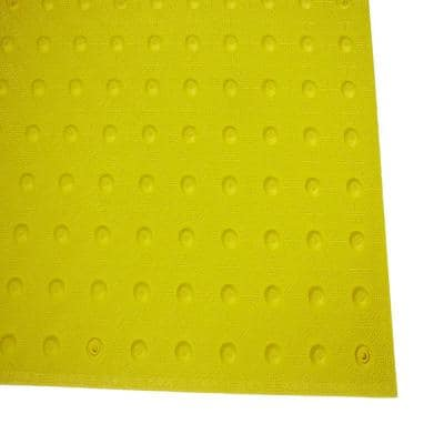 2 ft. x 4 ft. Yellow Detectable Warning Tile