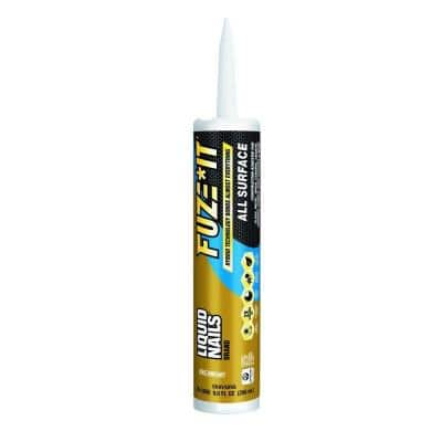 Fuze It 9 oz. Gray All Surface Construction Adhesive (12-Pack)
