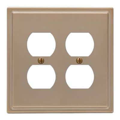 Moderne 2 Gang Duplex Steel Wall Plate - Brushed Bronze