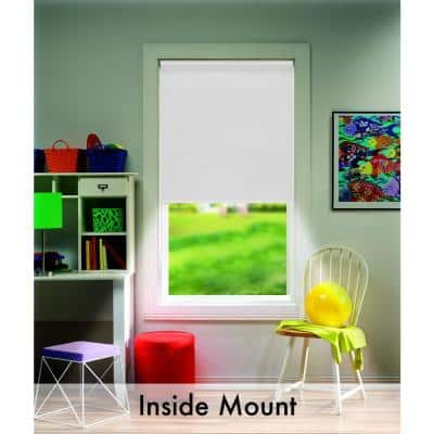 Cut-to-Size White Cordless Blackout Fade resistant Roller Shades 22 in. W x 72 in. L