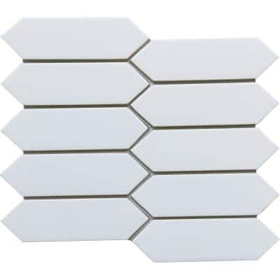Concept White 8.27 in. x 9.65 in. Honeycomb Semi-gloss Glass Mosaic Tile (0.554 sq. ft./Each)