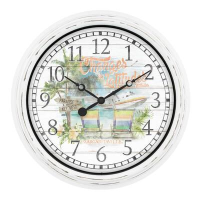 15.75 In. Indoor/Outdoor Quartz Wall Clock - Margaritaville Changes in Latitudes