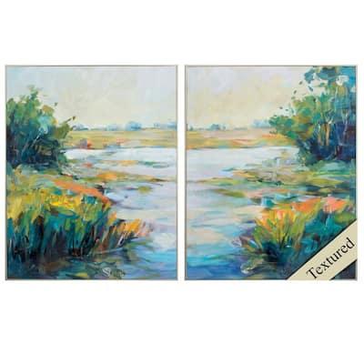 "30 in. x 24 in. "" Marsh Colors PK/2"" Framed Wall Art"