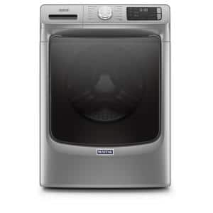 4.8 cu. ft. Metallic Slate Stackable Front Load Washing Machine with Steam and 16-Hour Fresh Hold Option, ENERGY STAR