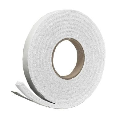 3/8 in. x 5/16 in. x 10 ft. White High-Density Rubber Weatherstrip Tape