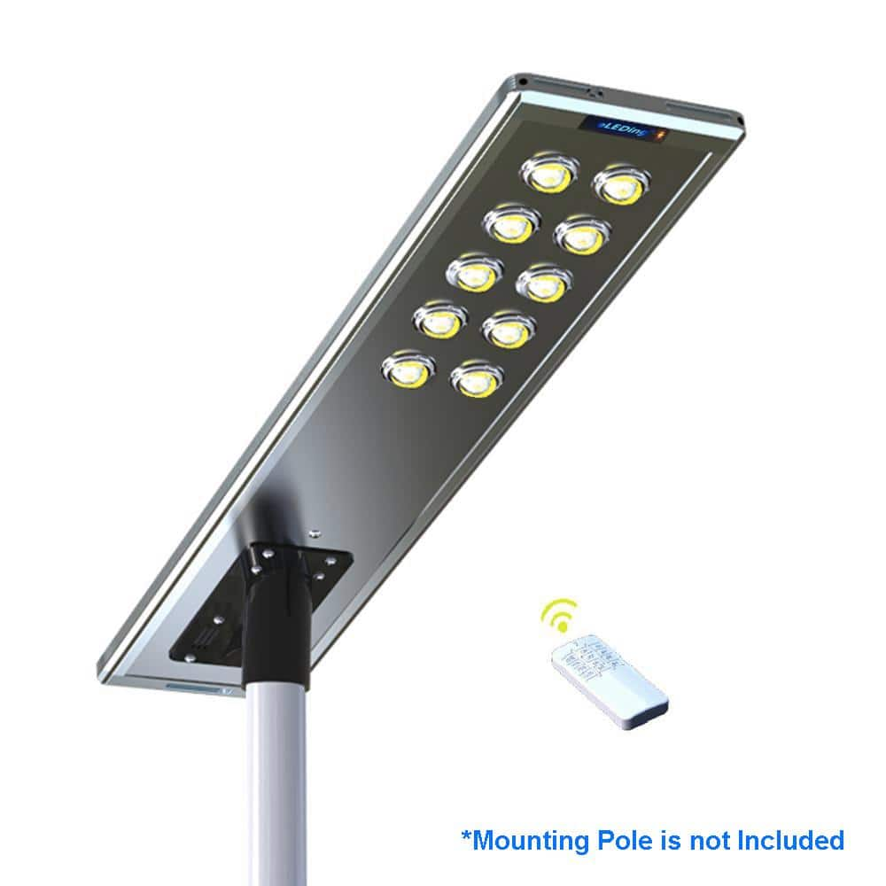 Outdoor Commercial 360W LED Solar Street Light Lamp Dusk to Dawn COB Remote