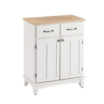 White and Natural Buffet with Storage