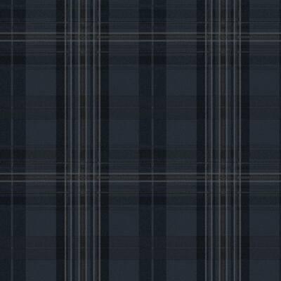 Austin Navy Plaid Wallpaper Sample