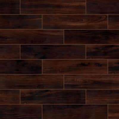 Beautiful Wood Cherry 8 in. x 36 in. Porcelain Floor and Wall Tile (122.4 sq. ft. / pack)