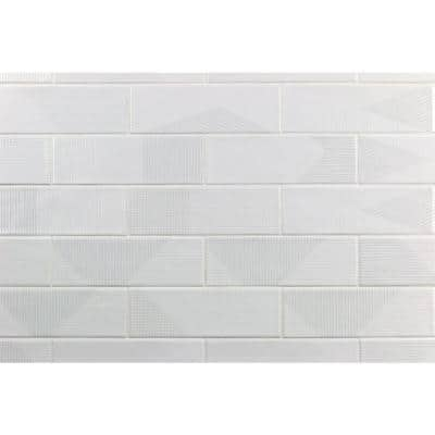 Ace White 2 in. x 8 in. x 9 mm Polished Ceramic Subway Wall Tile (38 pieces / 5.38 sq. ft. / box)