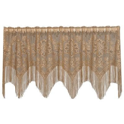 Gala 22 in. L Polyester Valance 4-Way in Antique