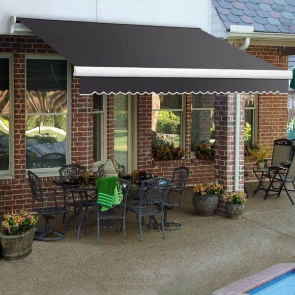 24 ft maui lx manual retractable awning 120 in projection gun