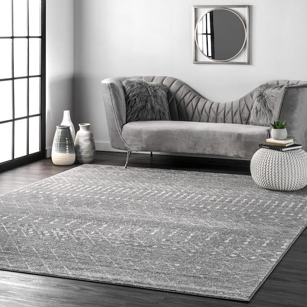 Nuloom Blythe Modern Moroccan Trellis, Dark Carpet Living Room