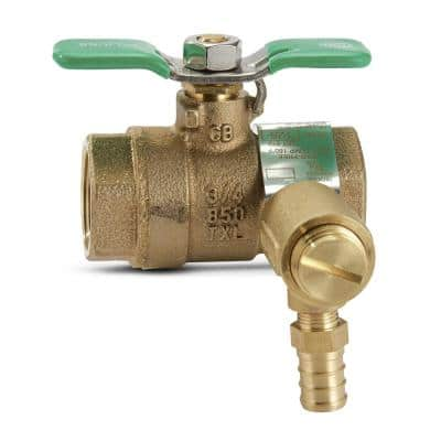 3/4 in. BVECXL Full Port Brass Ball Valve with Integral Thermal Expansion Relief Valve