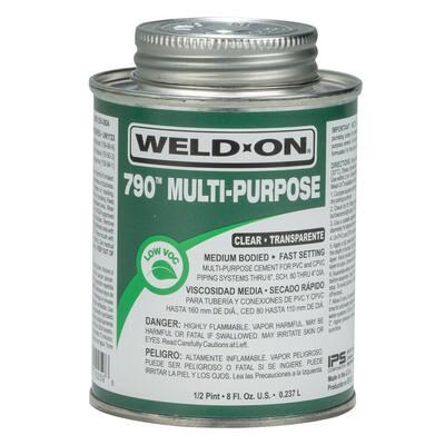 8 oz. PVC 790 Multi-Purpose Cement in Clear