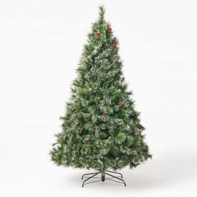 7 ft. Pre-Lit LED Cashmere Pine Artificial Christmas Tree with 900 Multi-color Lights
