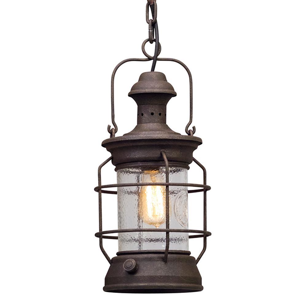 Atkins 1-Light Centennial Rust Outdoor Pendant