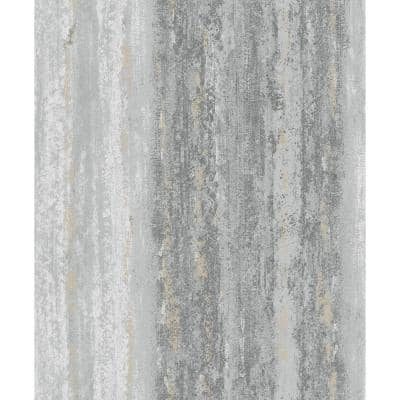 WeatheRed Abstract Stripes Wallpaper Charcoal Paper Strippable Roll (Covers 57 sq. ft.)