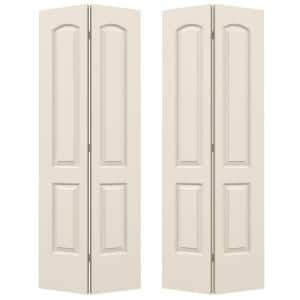36 in. x 80 in. Continental Primed Smooth Molded Composite MDF Closet Bi-Fold  Double Door