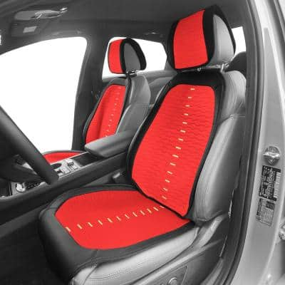 Polyester 25.5 in. x 20 in. x 0.25 in. Colorful Stich Front Seat Cushions