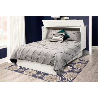 Cottage White Queen Size Cabinet Bed