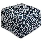 Navy Athens Indoor/Outdoor Ottoman Cushion