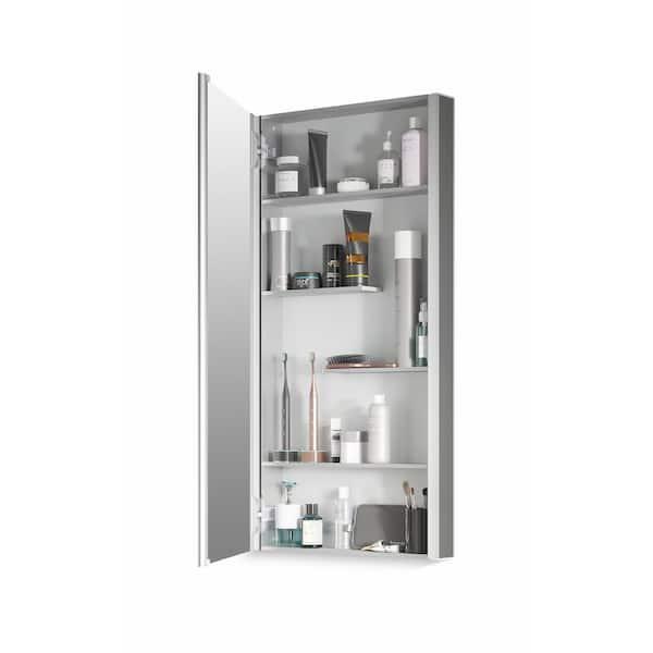 Kohler Maxstow 20 In X 40 In Frameless Surface Mount Aluminum Medicine Cabinet K 81156 La1 The Home Depot
