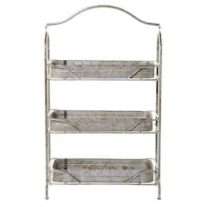 Gray 3-Tiered Garden Rack
