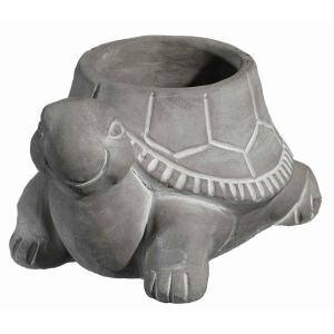 Small Natural Cement Turtle Planter