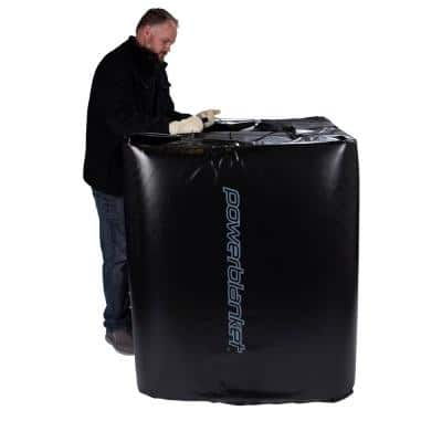 Insulated 350-Gal. IBC Tote Heating Blanket, IBC Tank Heater, Adjustable Thermostat Controller, Max Temp 145°F
