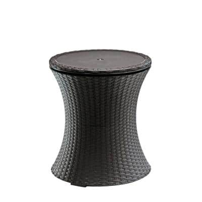 Cool Bar 7.5 Gal. Resin Rattan Drink Cooler Patio Table