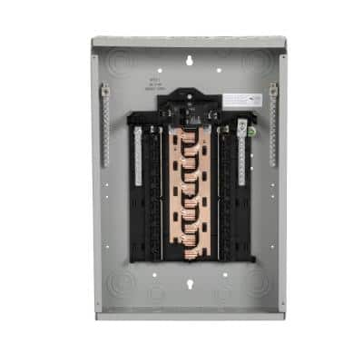 PN Series 100 Amp 20-Space 20-Circuit Main Breaker Plug-On Neutral Load Center Indoor with Copper Bus