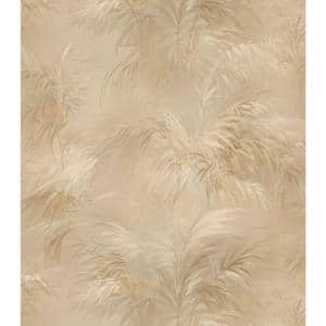 Palm Fern Gold Textures Pattern Vinyl Peelable Roll Wallpaper (Covers 56.4 sq. ft.)