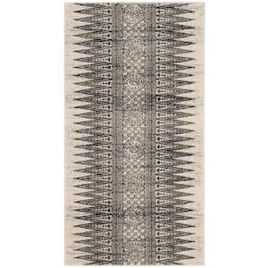 Evoke Ivory/Gray 2 ft. x 4 ft. Area Rug
