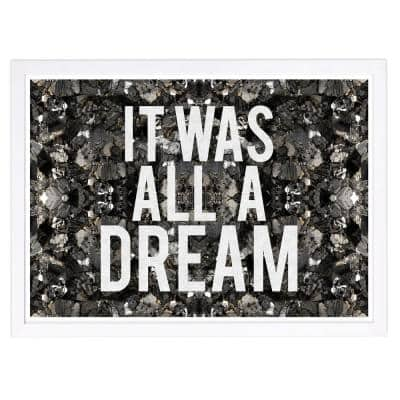 All A Dream Glitter' Framed Typography Art Print 13 in. x 19 in.