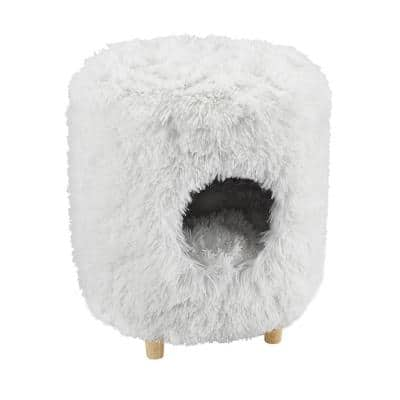 Rocket 18 in. White Cat Tree Cylinder