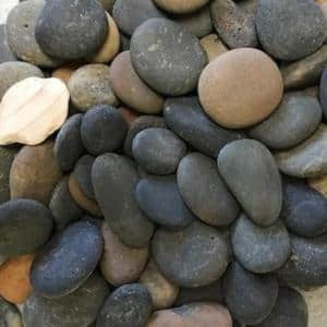0.50 cu. ft. 40 lbs. 1/2 in. to 1-1/2 in. Mixed Button Mexican Beach Pebble