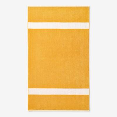 Wide Stripe Amber Cotton Terry Single Beach Towel