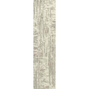 Nature's Linen - Color Snow Kissed Residential 9 in. x 36 in. Peel and Stick Carpet Tile (8 Tiles/Case)