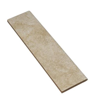 Portland Stone Beige Matte 3 in. x 12 in. Glazed Ceramic Bullnose Trim Tile (0.2357 sq. ft./Piece)