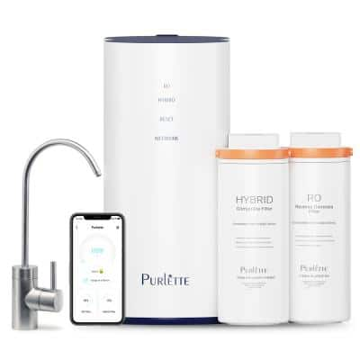 Smart Tech 5-Stage Tankless Reverse Osmosis System Under Sink RO Water Filtration Instant Filter Water for Home Office
