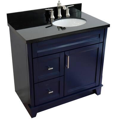 36 Inch Vanities Sink On Right Side Bathroom Vanities Bath The Home Depot